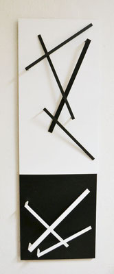 """""""schwarz-weiß"""", 2015, 110x35x6cm, Holz"""