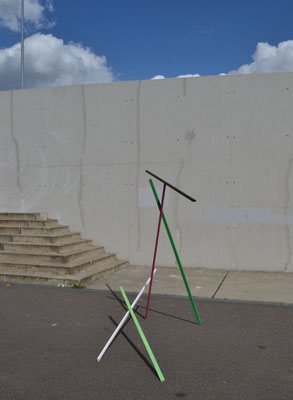 """Holzlattenkonstruktion 1"", 2014"