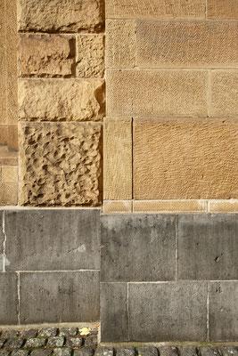 Fassade aus Heilbronner Sandstein von 1907