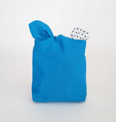 Poche à lingerie rectangle Uni Bleu.