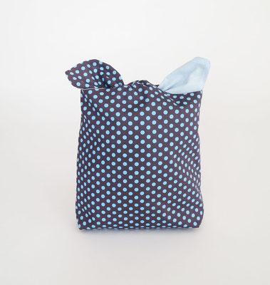 Poche à lingerie rectangle Pois Bleus.