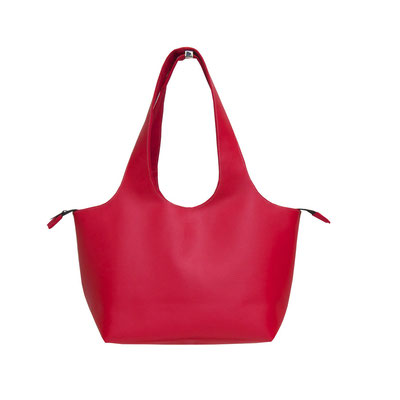 Shopper PM Skaï Rouge