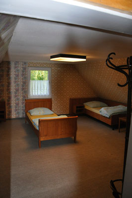 Schlafraum im Vereinsheim