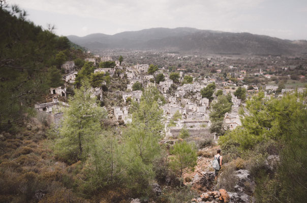 Geisterstadt Kayaköy nahe Ölüdeniz, Lykien, Türkei