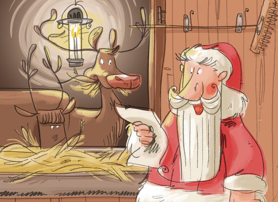 Osterhase und Nikolaus | Herder Verlag 2015 | Tags: Illustration,  Weihnachtsmann, Nikolaus, Osterhase, Rentiere