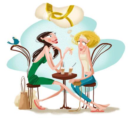 Editorial |Bild am Sonntag | 2010 | Tags: Illustration, Hochzeit, Ringe, heiraten, verträumt, Freundin, Trennung, Scheidung