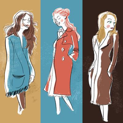 Freie Arbeit | 2020 | Tags: Illustration, editorial, girls, frauen, mode, fashion