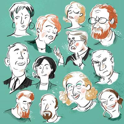 Freie Arbeit | 2020 | Tags: Illustration, Gesichter, Portrait, Menschen, people