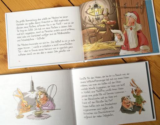 Osterhase und Nikolaus | Herder Verlag 2015 | Tags: Illustration,  Weihnachtsmann, Nikolaus, Osterhase
