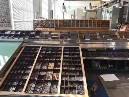 Die große Setzerei im Museum der Arbeit