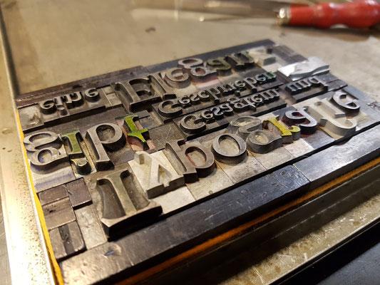 Die Satzform für meine Typografie-Postkarte