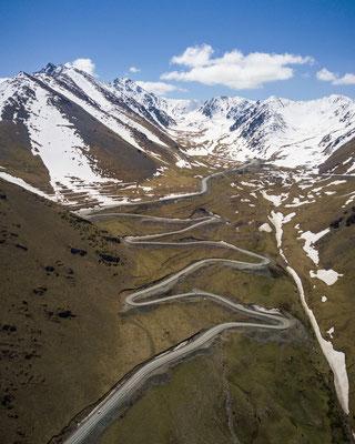 Bergpass in Kirgistan