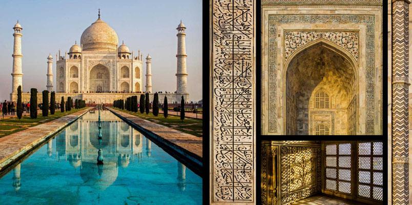 Bildband Rajasthan, Reisefuehrer, Reisebildband, Raimund Franken, Taj Mahal in Agra