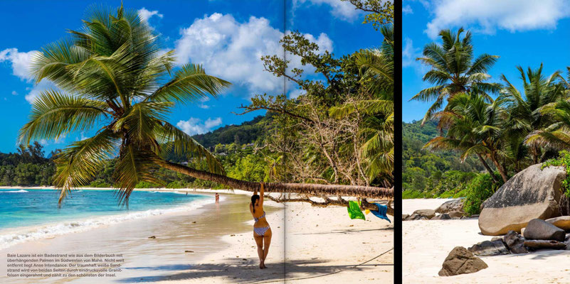 Bildband Seychellen, Reisefuehrer, Guide, Reisebildband, Raimund Franken, Relaxen am Strand der Hauptisel Mahe