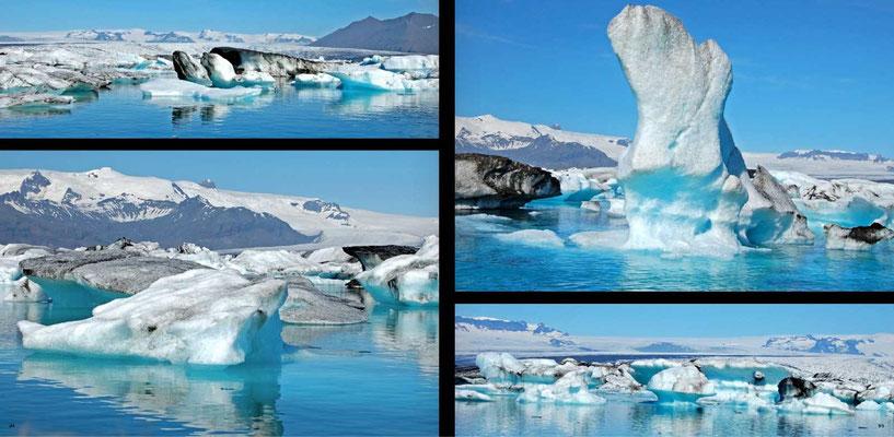 Bildband Island, Iceland, Raimund Franken, Eisbloecke im Gletschersee Joekulsarlon