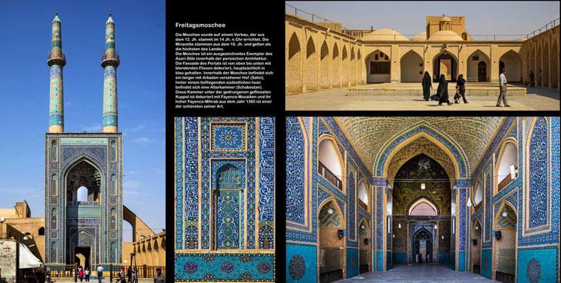 Bildband Iran, Reisefuehrer, travel guide, Reisebildband, Raimund Franken, Freitagsmoschee mit Fayence-Mosaiken, Yasd