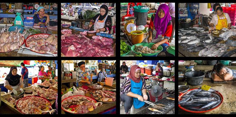 Bildband Suedthailand, Thailand, Raimund Franken, Markt in Takua Pa
