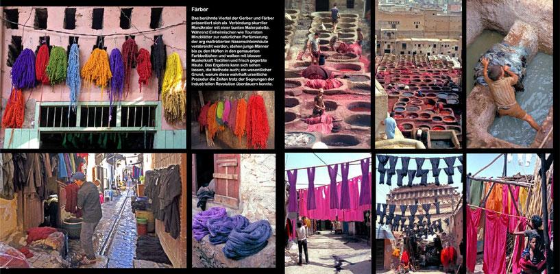Bildband Marokko, Reisefuehrer, travel guide, Reisebildband, Raimund Franken, Gerber- und Faerberviertel in Fes