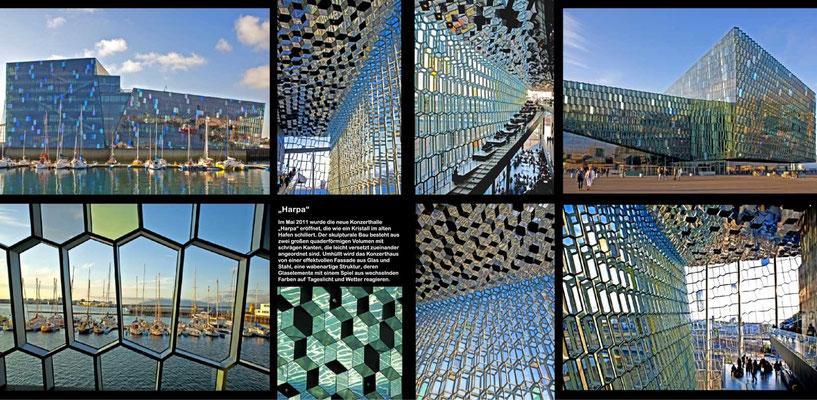 Bildband Island, Iceland, Raimund Franken, Konzerthalle Harpa in Reykjavik