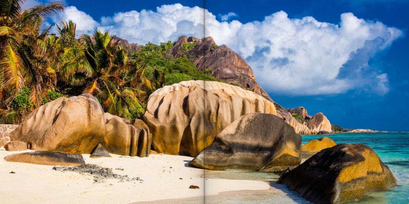 Bildband Seychellen, Reisefuehrer, Guide, Reisebildband, Raimund Franken, Traumstrand Anse Source d'Argent auf La Digue