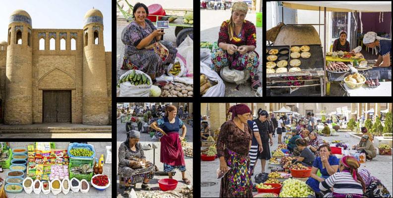 Bildband Usbekistan, Reisefuehrer, travel guide, Reisebildband, orientalischer Basar, Chiwa