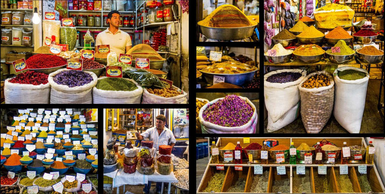 Bildband Iran, Reisefuehrer, travel guide, Reisebildband, Raimund Franken, Basar von Isfahan
