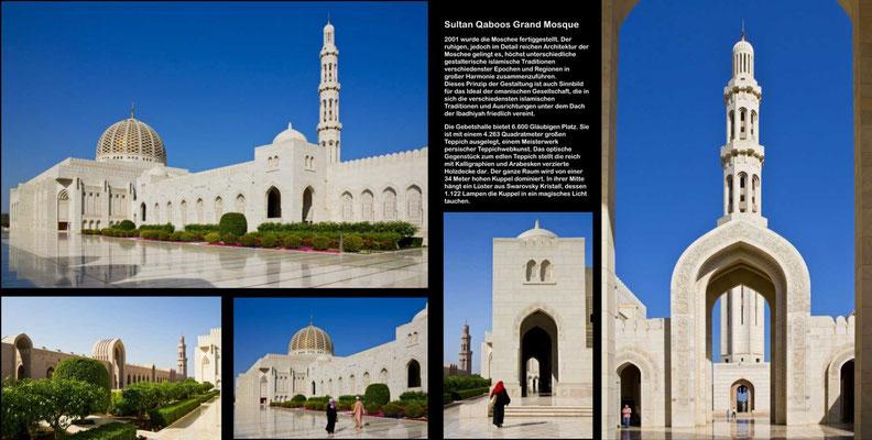 Bildband Oman, Reisefuehrer, travel guide, Reisebildband, Raimund Franken, Sultan Qaboos Grand Mosque, Muskat