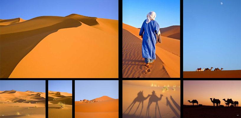 Bildband Marokko, Reisefuehrer, travel guide, Reisebildband, Raimund Franken, Sandduenen in der Wueste bei Erg Chebbi