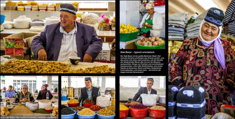 Bildband Turkmenistan, Reisefuehrer, travel guide, Reisebildband, Raimund Franken, Basar Samarkand