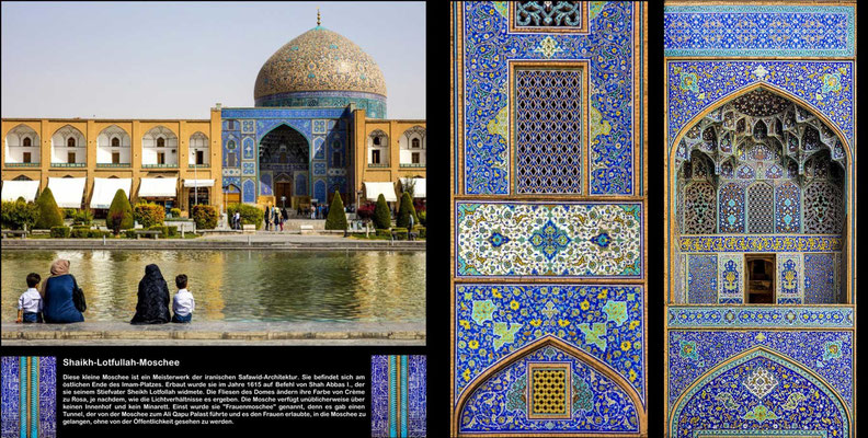 Bildband Iran, Reisefuehrer, travel guide, Reisebildband, Raimund Franken, Shaikh-Lotfullah-Moschee, Isfahan