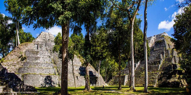 Bildband Guatemala, Reisefuehrer, Reisebildband, Raimund Franken, Tempel-Pyramiden in Yaxha inmitten des Dschungels