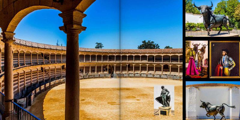Bildband Andalusien, Reisefuehrer, Reisebildband, Guide, Raimund Franken, Stierkampfarena in Ronda