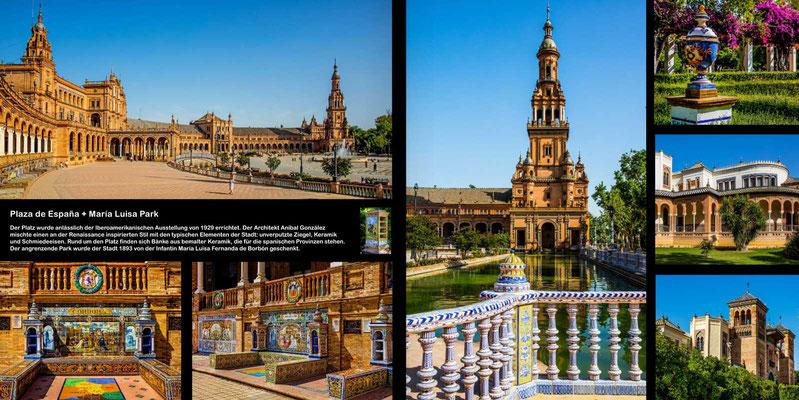 Bildband Andalusien, Reisefuehrer, Reisebildband, Guide, Raimund Franken, Plaza de Espana in Sevilla