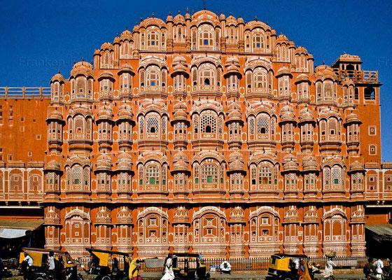 Bildband, Rajasthan, Indien, Goldenes Dreieck, Reisefuehrer, travel guide, Foto, Raimund Franken, Jaipur, Palast der Winde