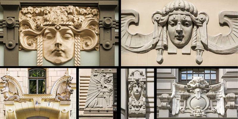 Bildband Baltikum, Estland, Lettland, Litauen, Reisefuehrer, Guide, Raimund Franken, Jugendstil-Haeuser in Riga