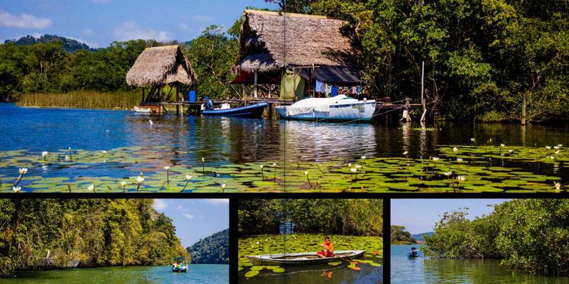 Bildband Guatemala, Reisefuehrer, Reisebildband, Raimund Franken, Bootsfahrt auf dem Rio Dulce nach Livingston