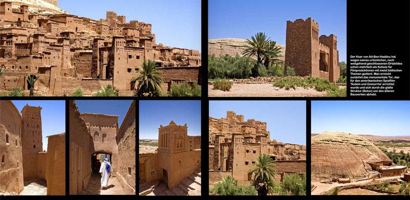 Bildband Marokko, Reisefuehrer, travel guide, Reisebildband, Raimund Franken,  Lehmstadt Ait-Ben-Haddou