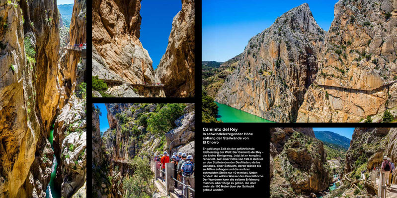 Bildband Andalusien, Reisefuehrer, Reisebildband, Guide, Raimund Franken, Caminito del Rey bei Malaga