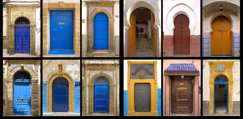 Bildband Marokko, Reisefuehrer, travel guide, Reisebildband, Raimund Franken,  liebevoll gearbeitete traditionelle Haustueren