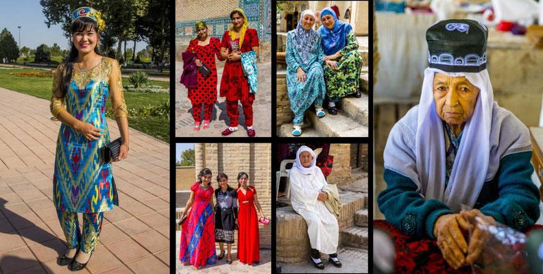 Bildband Turkmenistan, Reisefuehrer, travel guide, Reisebildband, Raimund Franken, Frauen aus Usbekistan