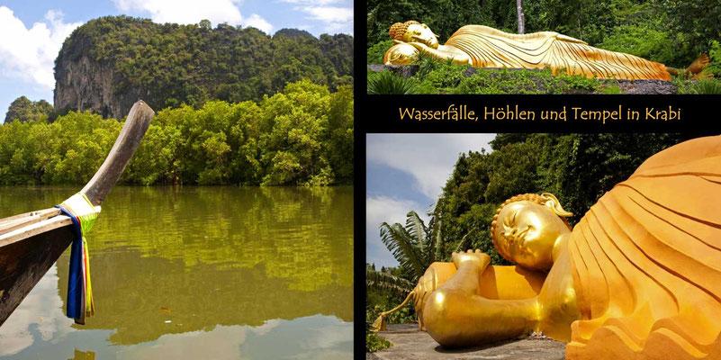 Bildband Suedthailand, Thailand, Reisefuehrer, Reisebildband, Travel Guide, Raimund Franken, mit dem Longtailboot durch die Mangrovenkueste bei Ao Luk