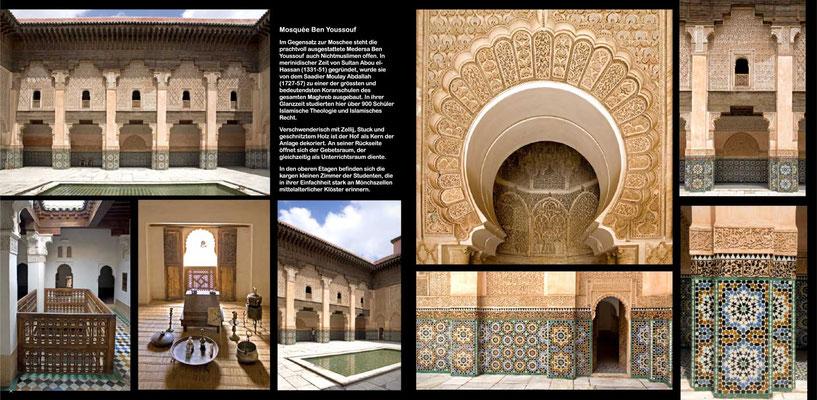 Bildband Marokko, Reisefuehrer, travel guide, Reisebildband, Raimund Franken, Medersa Ben Youssouf in Marrakesch