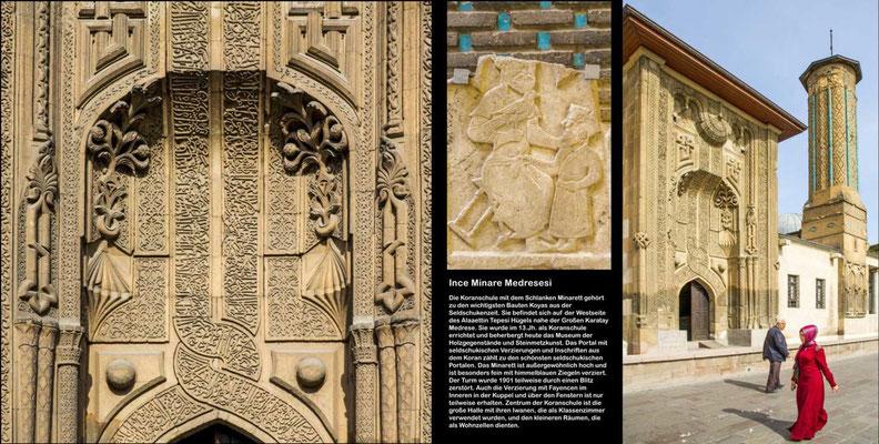 Bildband Tuerkei, Reisefuehrer, travel guide,  Raimund Franken,  Ince Minare Medresesi, Museum der Holzgegenstaende und Steinmetzkunst,  Konya