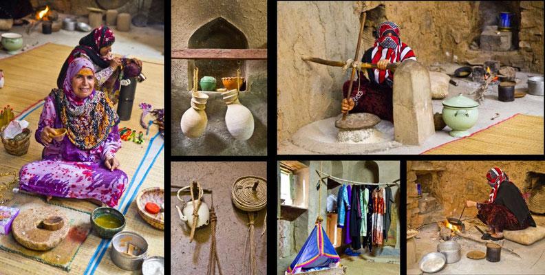 Bildband Oman, Raimund Franken,  traditionelles Haus, Bait al Safah Heimatmuseum, alte Lehmsiedlung Al Hamra