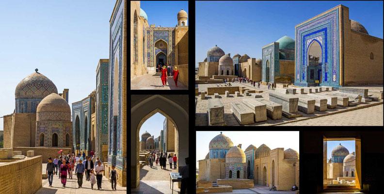 Bildband Turkmenistan, Reisefuehrer, travel guide, Reisebildband, Raimund Franken, Shohizinda, Graeberstrasse aus 11 Mausoleen, Samarkand