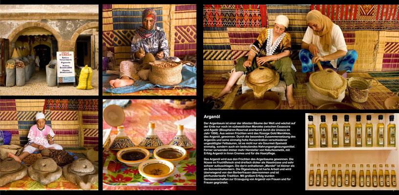 Bildband Marokko, Reisefuehrer, travel guide, Reisebildband, Raimund Franken, Nuesse des Arganbaums werden zu Oel verarbeitet