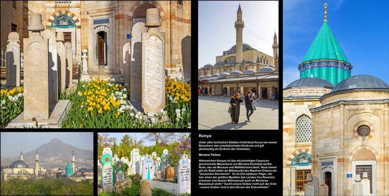 Bildband Tuerkei, Reisefuehrer, travel guide, Raimund Franken, Mevlana Tekkesi , Mausoleum von Mevlana Dschalad ad-Din Rumi, Konya