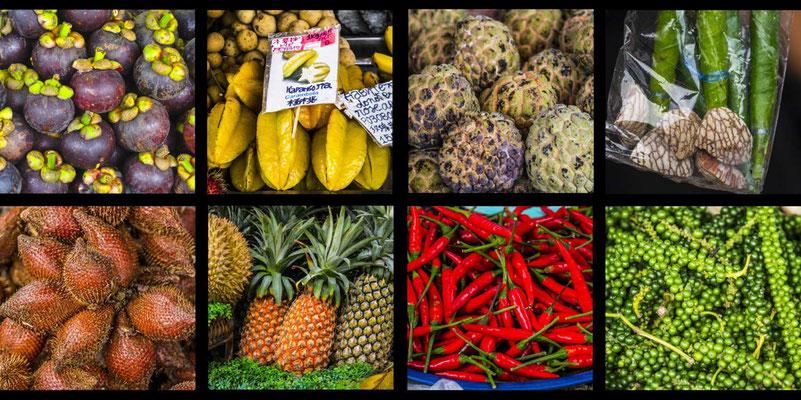 Bildband Suedthailand, Thailand, Reisefuehrer, Reisebildband, Travel Guide, Raimund Franken, ueppige Fruchtauswahl auf den Maerkten
