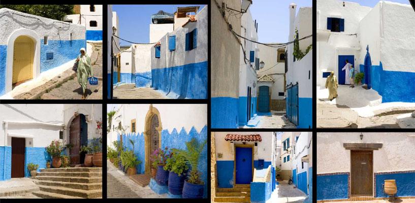 Bildband Marokko, Reisefuehrer, travel guide, Reisebildband, Raimund Franken, Gassen der Kasbah in Rabat