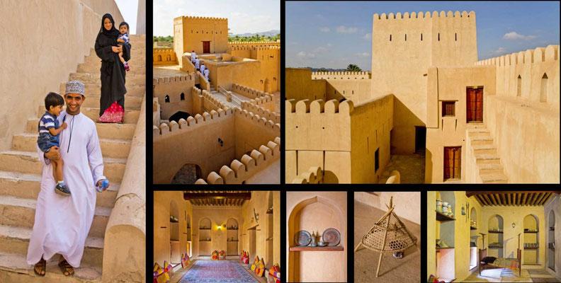 Bildband Oman, Reisefuehrer, travel guide, Reisebildband, Raimund Franken, Fort von Nizwa, Oasenstadt Nizwa